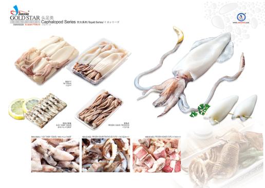 冻鱿鱼产品系列
